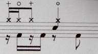 イントロ3に分割したドラム譜