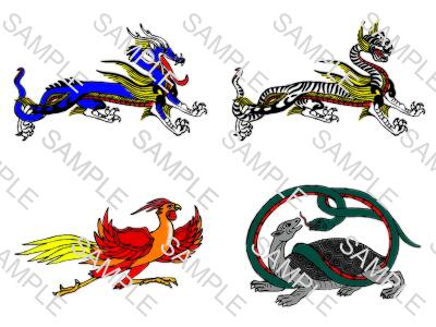 四神獣イラストサンプル画像