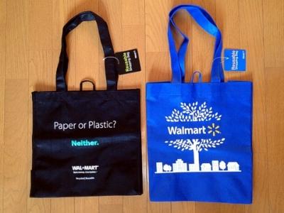 ウォルマート トートタイプ reusable shopping bag