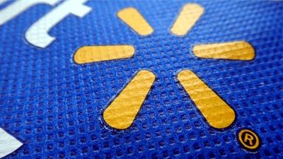 walmart reusable bag blue不織布
