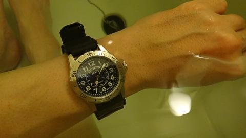 jaxis WR3bar Watch を風呂に入れる