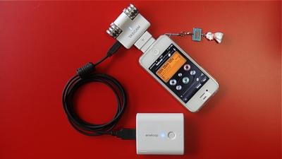 TASCAM iM2 iPhone4s eneloop
