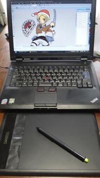 ペンタブとlenovo SL400