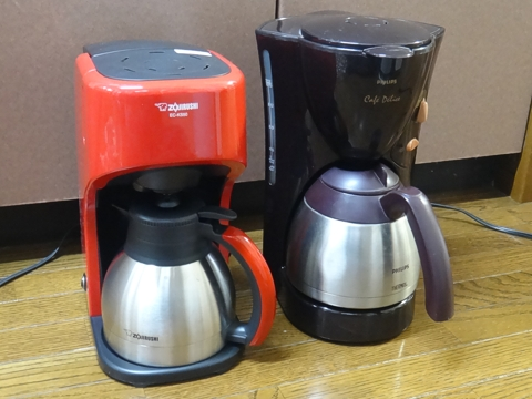ステンレスボトルコーヒーメーカー像印とフィリップス
