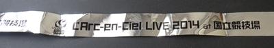 Larc-en-Ciel Live 2014 at 国立競技場 銀テープ