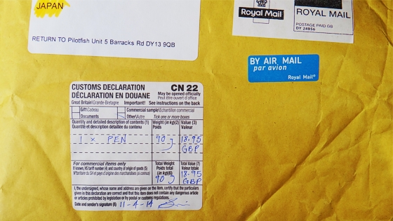 Royal Mail from UK