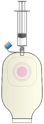 洗浄シャワー弁付きストーマパウチ