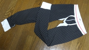 SEOBEANストレッチコットンメンズタイツ PatternBreakerHipster/花柄 ブラック Mサイズ 素材:コットン92%、スパンデックス8%