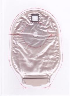 dansac NOVA1 pouch cover 手書き型紙