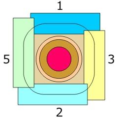 図1 面板周囲固定防水フィルムの貼付位置
