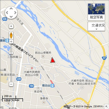 2014年大崎バルーンフェスティバル撮影ポイント(Google mapより)
