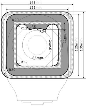 ダンサック ノバ1 ミニフォールドアップ水泳用防水カバー図面