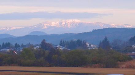 岩出山江合川あったか河川公園から見た栗駒山