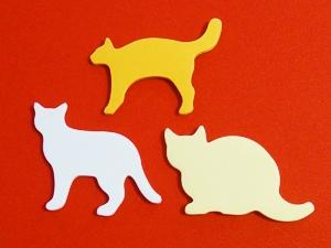 3種類のネコの付箋紙