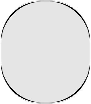 図2 KenU頭囲からの形状補正モデル(黒:シミュレーションモデルC、グレー:KenU頭囲からの補正モデル、グレー実線:頭囲56cm標準モデルC)