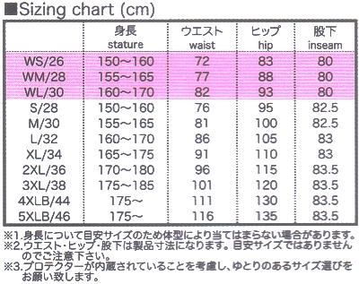 PK718 sizing table