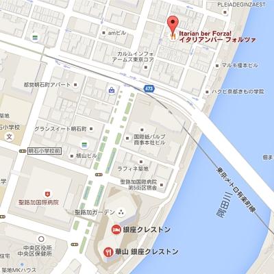 イタイアンバーフォルツァ、銀座クレストン(Google Mapより)