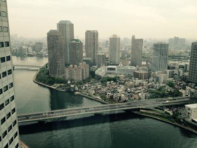 銀座クレストン36F客室からの風景(朝)