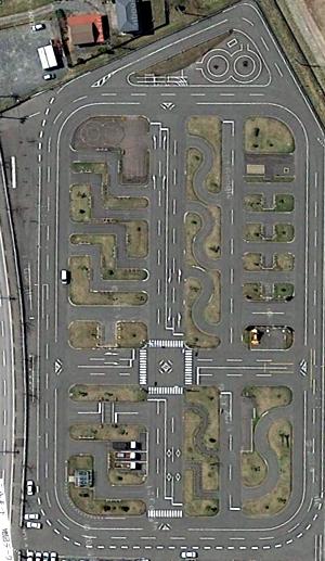 教習コースS1 (Google Map航空写真より)