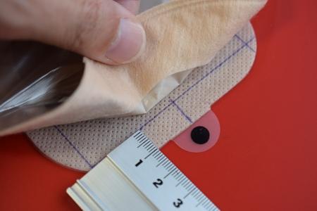 面板背面補助線記入