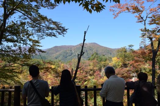 鳴子峡展望台上 2015年10月18日
