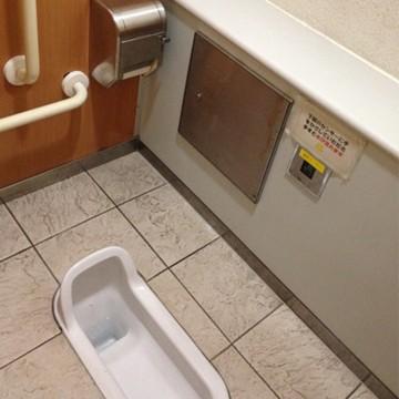 ○○駅の和式水洗便所