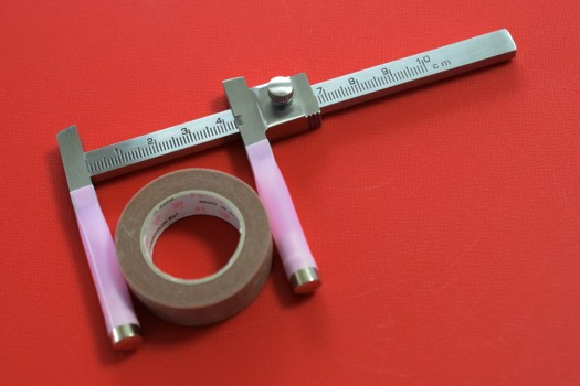ストーマサイズ測定用に改造したオイレンブルヒ知覚計