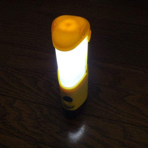 Coleman LED Micropacker Lantern トレーシングペーパー透過光