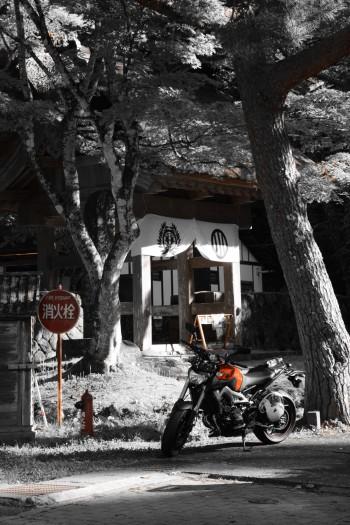 MT-09仙台藩花山村寒湯番所跡にて20161016