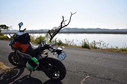 MT-09で伊豆沼へ