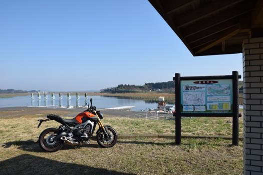 長沼ボート場とMT-09