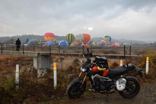 大崎バルーンフェスティバル離陸準備とMT-09