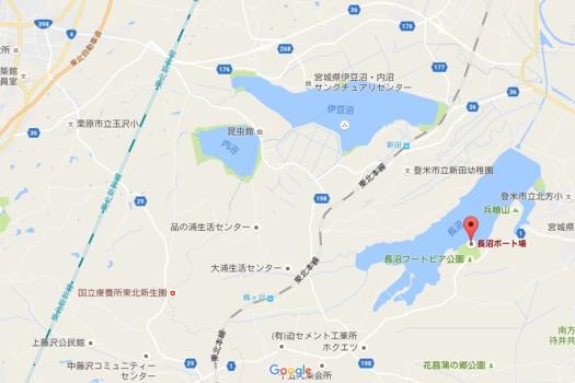 長沼ボート場地図 Google Maps