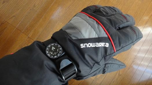 snowareaにSUUNTOクリッパーコンパス装着