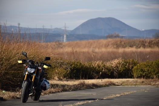 「あゆの里」潤いのある岸辺から臨む薬莱山
