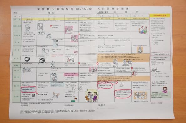 KenUのマイルス術入院診療計画書