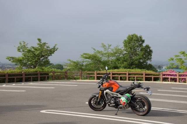 MT-09涌谷城山公園駐車場にて