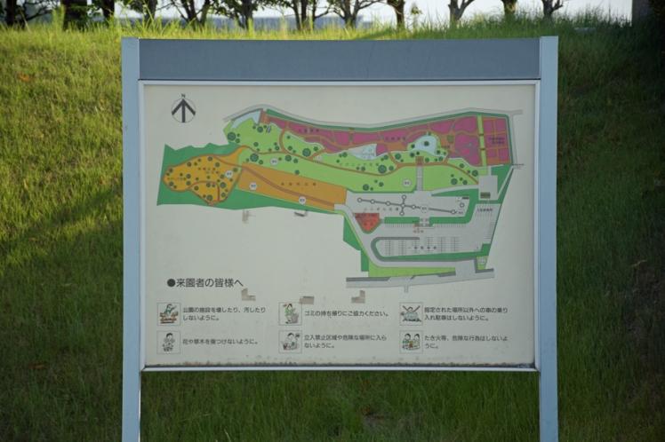 みなみかた花菖蒲の郷公園案内図