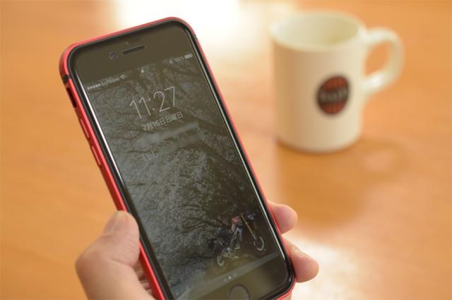 KenU iPhone7アルミTPUバンパーレッド
