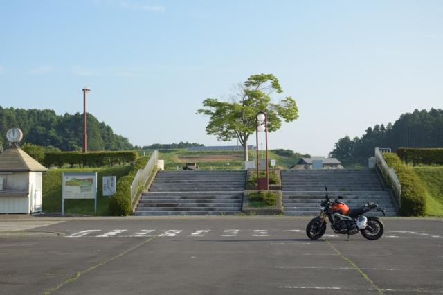 MT-09みなみかた花菖蒲の郷公園駐車場にて