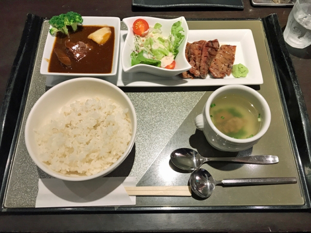 仙台牛たん 青葉亭 セレクトメニューAセット 牛たん焼ハーフと牛たんシチュー