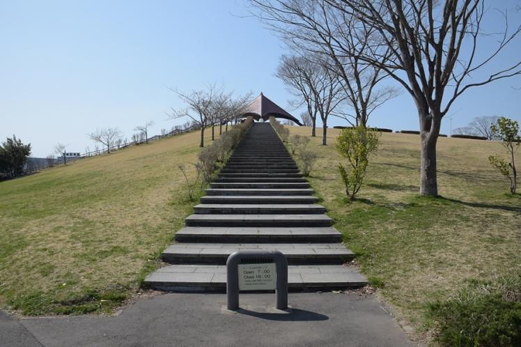 スリーエム仙台港パークの階段