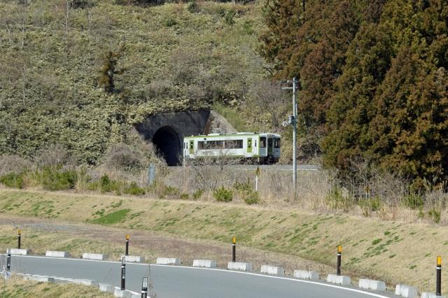 トンネルを抜けた気仙沼線