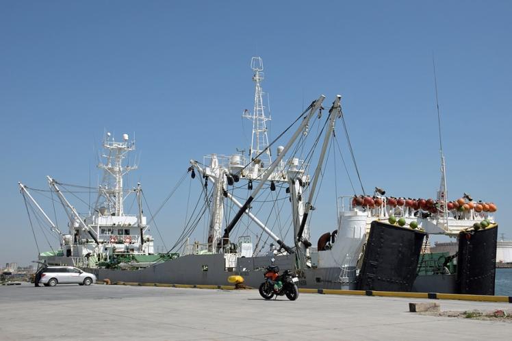 仙台港高松埠頭 遠洋底びき網漁業許可船 第五十八富丸(総トン数401)