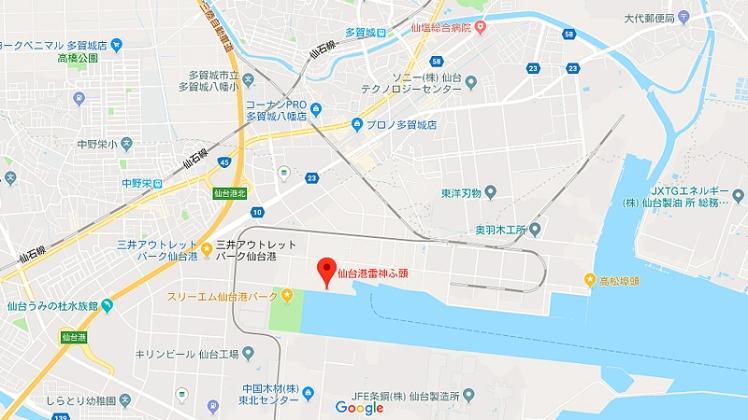 仙台港周辺Google maps