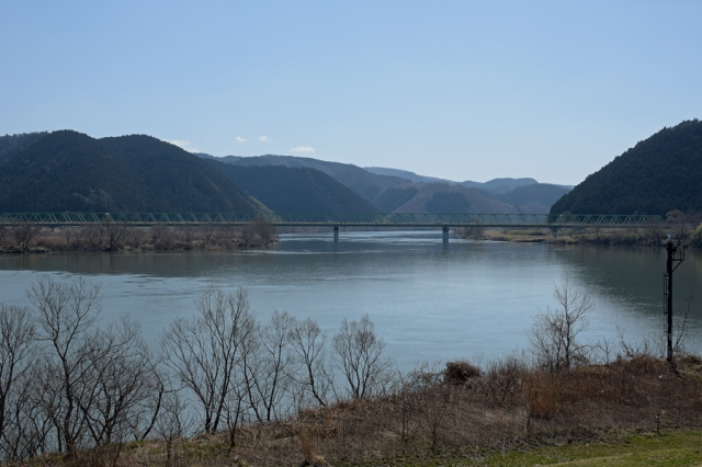北上川と柳津大橋