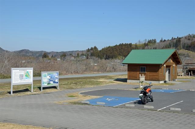 北上川河川歴史公園の駐車場