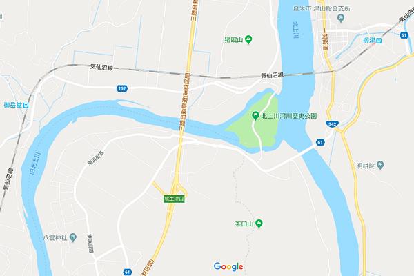 北上川河川歴史公園Google maps