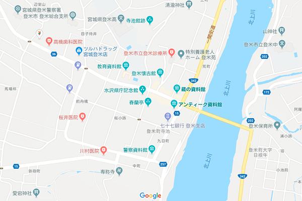 宮城県登米市登米町Google maps