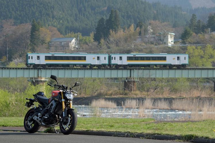 陸羽東線とMT-09と江合川